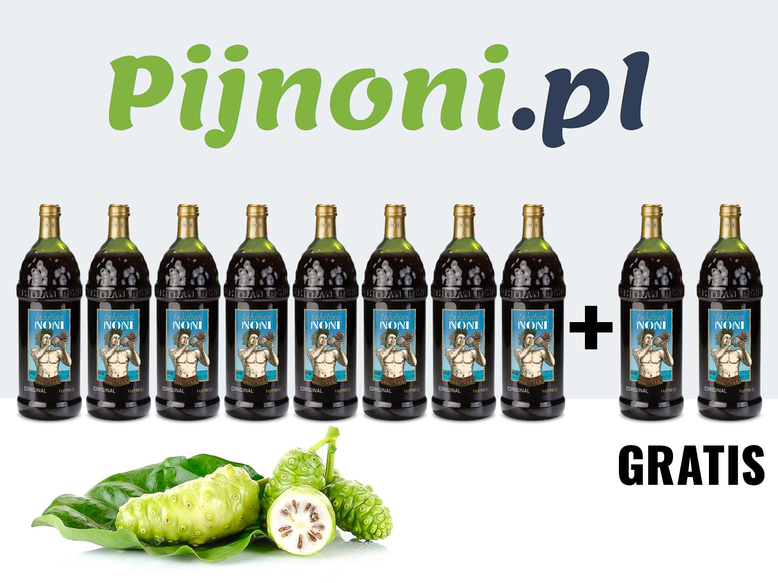 Do końca czerwca promocja na Soki Noni – 2 butelki gratis
